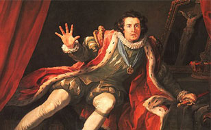 David Garrick as Richard III (detail) by William Hogarth