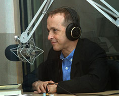 David Sedaris at WBUR studios in June 2008.
