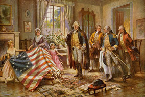 """""""The Birth of Old Glory"""" by Percy Moran"""