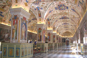 The Sistine Hall in the Vatican Library.