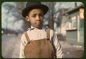 Young boy near Cincinnati, Ohio. John Vachon (1942 or 1943).