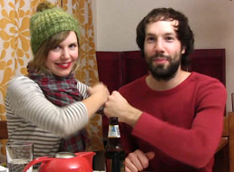 "Indie band Pomplamoose (Nataly Dawn Rt and Jack Conte Lt) created the ""Richmond Book Drive"" program to benefit the struggling school district in Richmond, CA."